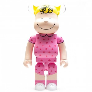 Medicom Peanuts Sally Brown 1000% Bearbrick Figure (pink)