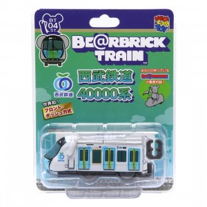 Medicom Seibu Railway 40000 Series Bearbrick Train Figure (white)