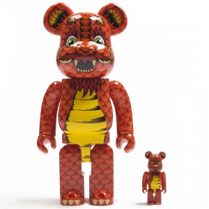 Medicom Steve Caballero 100% 400% Bearbrick Figure Set (orange)