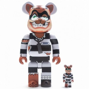 BAIT x Medicom TMNT Scratch 100% 400% Bearbrick Figure Set (white / black)