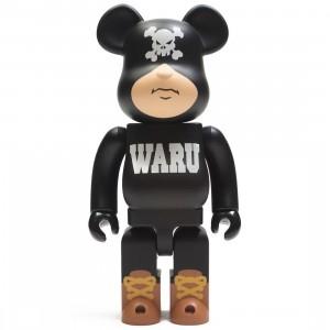 Medicom Santastic! Entertainment Tokyo Tribe Waru 400% Black Bearbrick Figure (black)