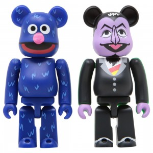 Medicom Sesame Street Count Von Count And Grover 100% 2 Pack Bearbrick Figure Set (black / blue)
