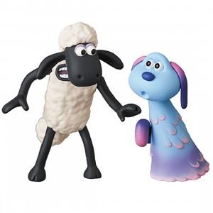 Medicom UDF A Shaun the Sheep Movie Farmageddon Shaun And Lu-La Figure (white)