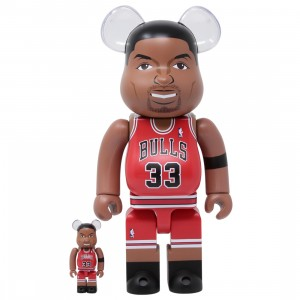 Medicom NBA Chicago Bulls Scottie Pippen 100% 400% Bearbrick Figure Set (red)