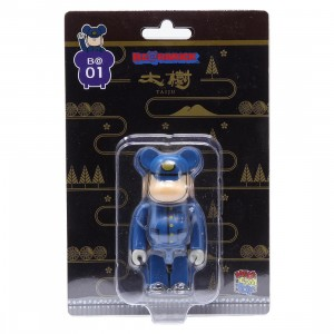 Medicom Tobu Railway SL Taiju Engineer 100% Bearbrick Figure (blue)