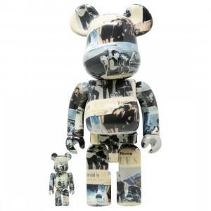Medicom The Beatles Anthology 100% 400% Bearbrick Figure Set (beige)