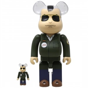 Medicom Taxi Driver Travis Bickle 100% 400% Bearbrick Figure Set (olive)