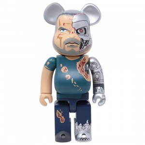 Medicom Terminator Dark Fate T-800 400% Bearbrick Figure (blue)
