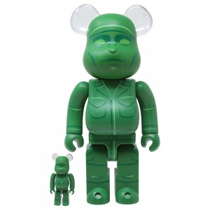 Medicom Toy Story Green Army Men 100% 400% Bearbrick Figure Set (green)
