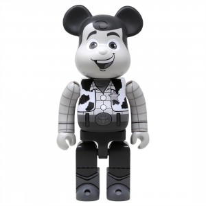 Medicom Toy Story Woody Black And White 400% Bearbrick Figure (gray)
