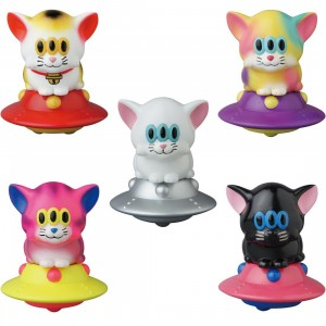 Medicom Calm Cat UFO By Art Junkie VAG Vinyl Artist Gacha Box Series 17 Figure - 1 Blind Box