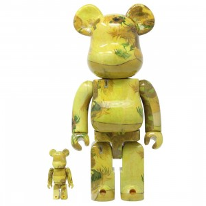 Medicom Van Gogh Museum Sunflowers 100% 400% Bearbrick Figure Set (yellow)