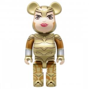 Medicom DC Wonder Woman Golden Armor 400% Bearbrick Figure (gold)