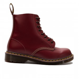Dr. Martens Men 1460 Vintage Made In England Lace Up Boots (red / oxblood quilon)