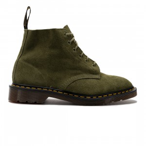 Dr. Martens Men 101 Suede Ankle Boots (olive / army green / desert oasis suede)