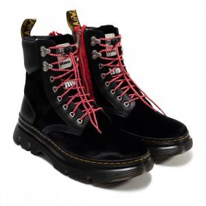 Dr. Martens x Atmos Men Tarik Zip Boots (black / black velvet / smooth)