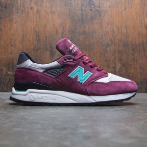 New Balance Men 998 M998AWC - Made In USA (burgundy / blue)