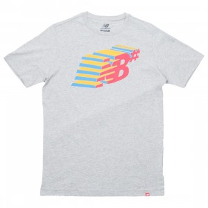 New Balance Men Numeric Console Tee (gray / athletic grey)