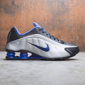 Nike Men Shox R4 (black / racer blue-metallic silver)