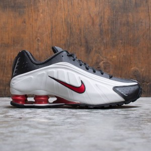 Nike Men Shox R4 (platinum tint / university red-black)