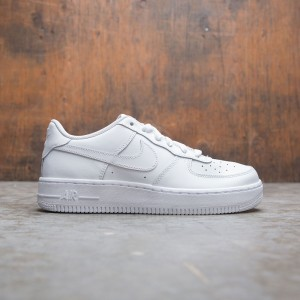 Nike Big Kids Air Force 1 (Gs) (white / white-white)