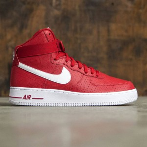 Nike Men Men'S Nike Air Force 1 High '07  (gym red / white-white)