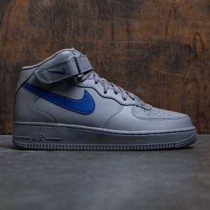 Nike Men Air Force 1 Mid 07 (dust / deep royal blue)