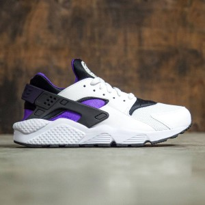 Nike Men Air Huarache (white / hyper grape-black-purple dynasty)