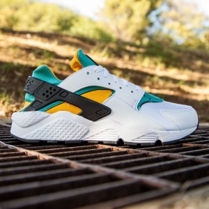 Nike Men Air Huarache (white / sport turquoise / university gold)