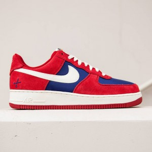 Nike Men Air Force 1 (red / gym red / sail / deep royal blue)