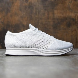 Nike Men Flyknit Racer Running (white / white-sail-pure platinum)