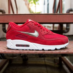 Nike Men Air Max 90 Essential (red / metallic pewter / white)