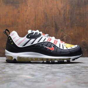Nike Men Air Max 98 (black / bright crimson-white-chrome yellow)
