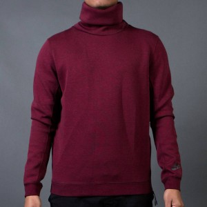 Nike Men Tech Fleece Funnel Sweatshirt (red / team red / black / heather / black)
