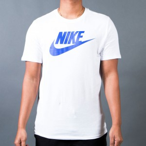 Nike Men Sportswear Futura Icon Tee (white / white / game royal)