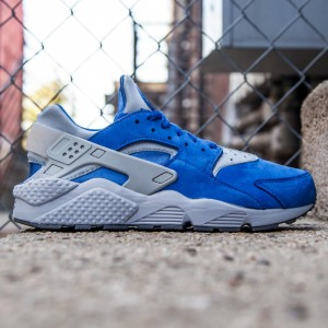 Nike Men Air Huarache Run PRM (blue / varsity royal / wolf grey / cool grey)