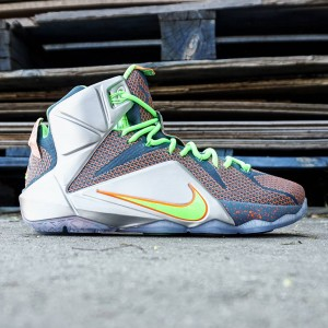 Nike Men Lebron 12 Prm Trillion Dollar (blue / green / silver)