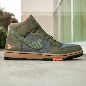 Nike Men Dunk High CMFT Premium (olive / gum light brown / total orange / black)