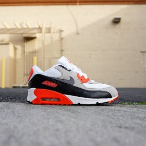 Nike Little Kids Air Max 90 OG PS (white / infrared / black)