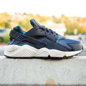 Nike Women Air Huarache Run Print (navy / obsidian / black / sail)