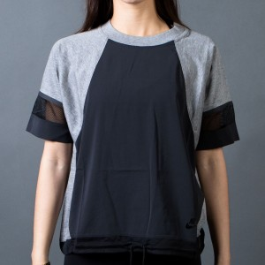 Nike Women Bonded Tee (black / carbon heather / black)