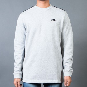 Nike Men Modern Crewneck (grey  /  dk grey heather / black)