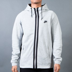 Nike Men Modern French Terry Jacket (dk grey heather / black)