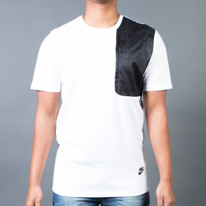 Nike Men Hybrid Tee (white / black)