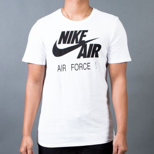 Nike Men Air Force 1 Since 1982 Tee (white / white / black)