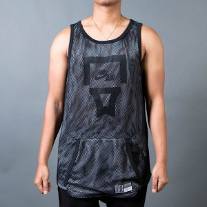 Nike Men Air Pivot V3 Mesh Tank Top (black / white / black)