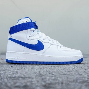 Nike Men Air Force 1 High Retro QS (white / summit white / game royal)