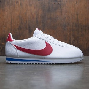 Nike Men Classic Cortez Leather (white / varsity red-varsity royal)