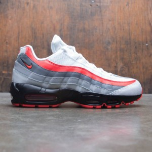 Nike Men Air Max 95 Essential (white / bright crimson-black-pure platinum)