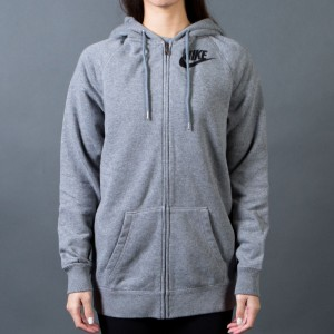 Nike Women Rally Boyfriend Full Zip Hoodie (grey / carbon heather / cool grey / black)